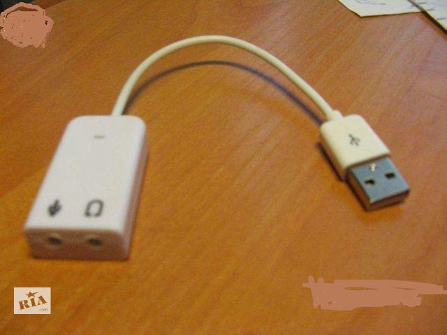 бу Новая USB звуковая карта, Работает отлично в Одессе