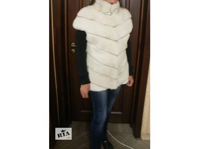 купить бу Новая жилетка из меха норки, диагональный покрой в Киеве