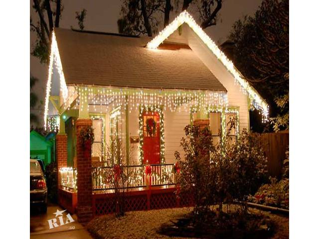 Новогоднее световое оформление фасада магазина,новогоднее освещение,украшение дома к Новому году- объявление о продаже   в Украине