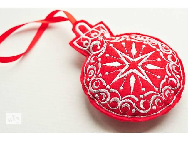 продам Новогодние игрушки из ФЕТРА, Вышивка. Классика-красные. 5шт бу в Одессе