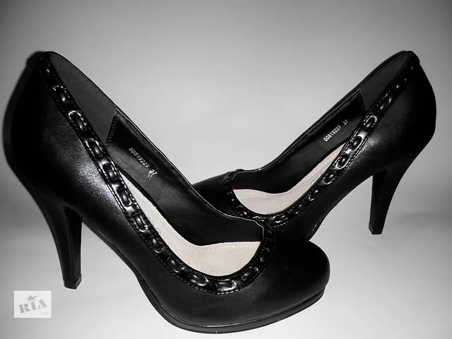 бу Новые чёрные туфли 37-го размера в Харькове