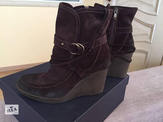 купить бу Новые коричневые ботинки из натуральной кожи в Киеве