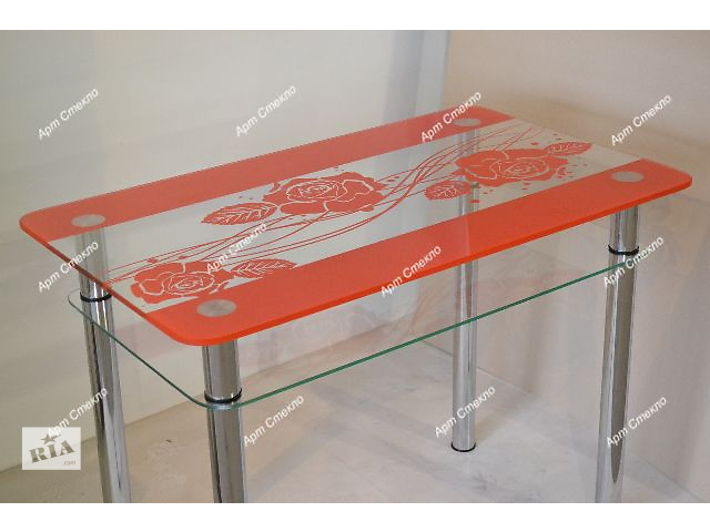 Новые обеденные столы из стекла. Разные размеры и цвета- объявление о продаже  в Дружковке