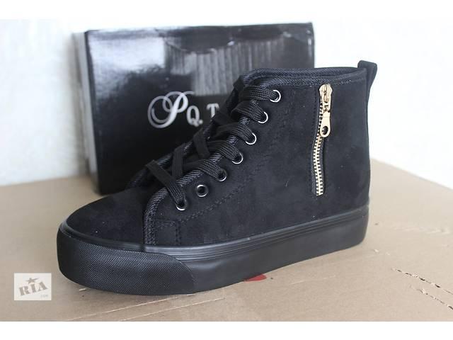Новые,стильные женские ботиночки (зима) отличного качества. Материал: искусственная замша. Цвет: рыжий.  Размеры:  36, п- объявление о продаже  в Конотопе (Сумской обл.)