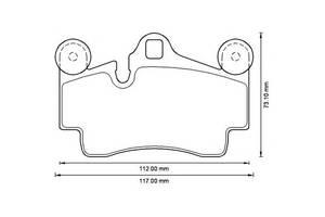 Новые Тормозные колодки комплекты Porsche Cayenne