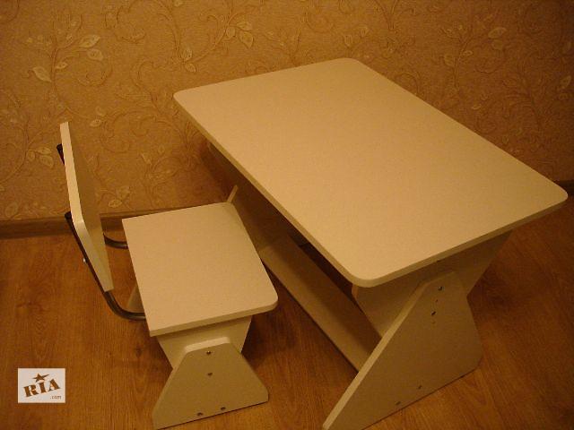 продам Новые растущие детские стол-парта в комплекте со стульчиком бу в Киеве