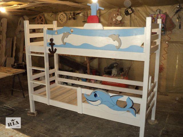 бу Новинка детская двухъярусная кровать Дельфинчик из натурального дерева в Киеве