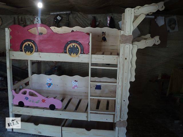 бу новинка двухъярусная кровать Бетмен+ спортстенка со сёмным турником растишка в Киеве