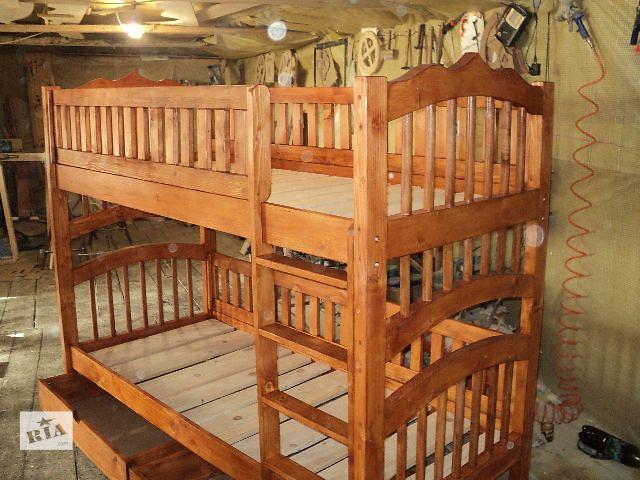 продам Новинка двухъярусная кровать Гуцуляндия из Смерекы Карпатской для ваших деток бу в Киеве