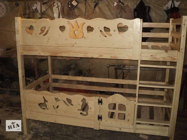 новинка двухъярусная кровать Тюльпанчик из Смерекы Карпатской,для ваших деток- объявление о продаже  в Киеве