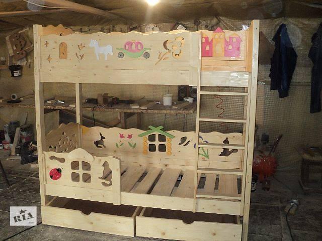 продам Новинка двухъярусная кровать Золушка из Смерекы Карпатской для ваших деток бу в Киеве