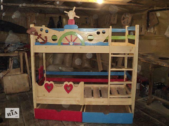 продам Новинка Кроватка для Морячка и маленькой принцессы из Смерекы Карпатской бу в Киеве