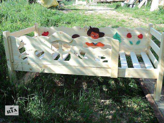 бу Новинка деревянная кроватка Кот в сапогах из смерекы карпатской для ваших деток в Киеве