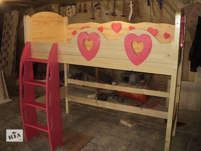 купить бу Новинка, кровать для маленькой принцессы из смерекы Карпатской в Киеве