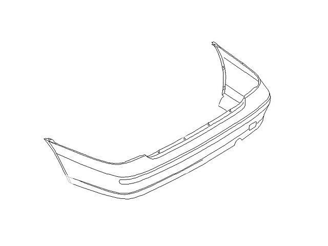 бу Новый бампер задний для седана Nissan Almera в Ивано-Франковске