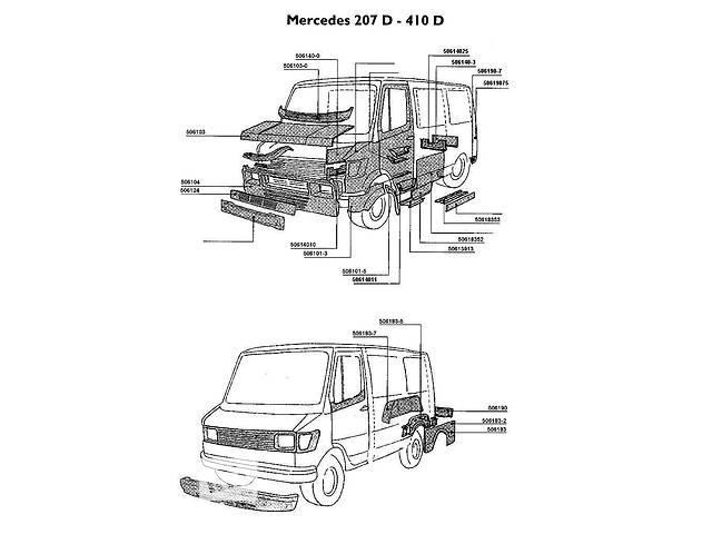 бу Новый  для автобуса Mercedes 207 кузовщина , детали кузова в Луцке