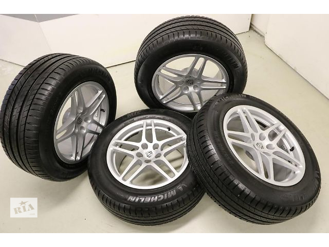 купить бу Новый комплект коліс  для легкового авто Porsche Macan 235/60/255/55/18.michelin в Ужгороде