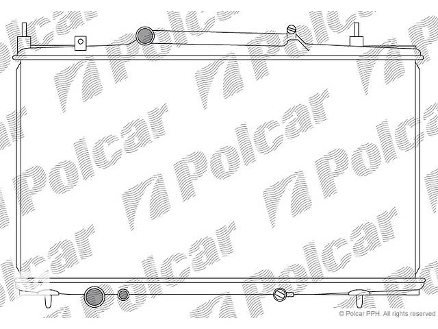 бу Новый радиатор для легкового авто Peugeot 607, C8 02- охлаждения 688x380x32 POLCAR 233208-3 в Тернополе