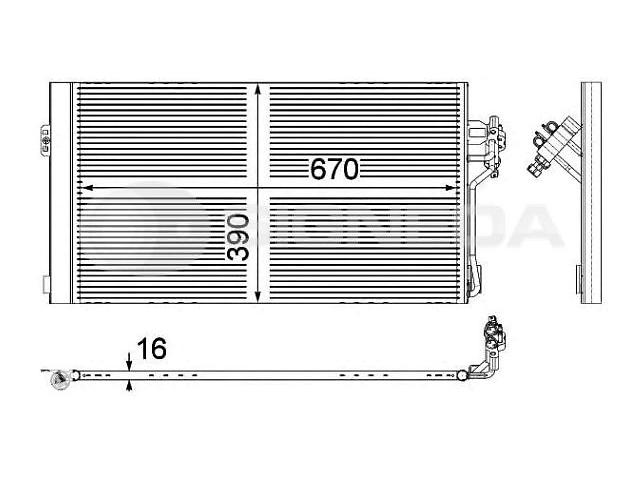 Новый радиатор кондиционера для автобуса Mercedes Vito- объявление о продаже  в Луцке