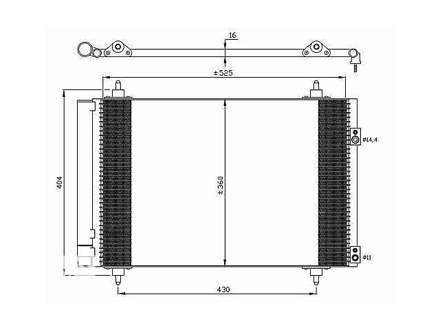 продам Новый радиатор кондиционера для легкового авто Citroen Berlingo бу в Луцке