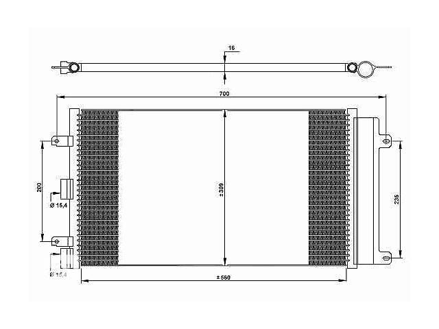 Новый радиатор кондиционера для легкового авто Fiat Doblo- объявление о продаже  в Луцке