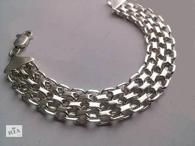 продам Новый серебряный браслет ЯКОРЬ ДВОЙНОЙ бу в Киеве