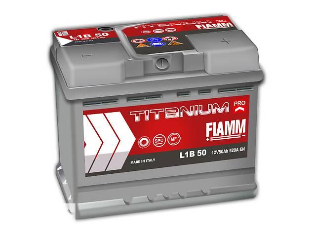 купить бу Новый стартерный аккумулятор для легкового авто Fiamm Titanium PRO 50Ah в Киеве