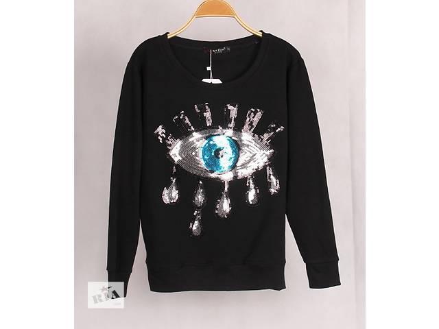 купить бу Новый свитшот с модной вышивкой. Оригинал в Киеве