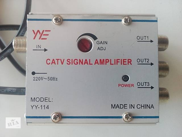 купить бу Новый YY-114 Антенный разветвитель усилитель ТВ сигнала в Львове