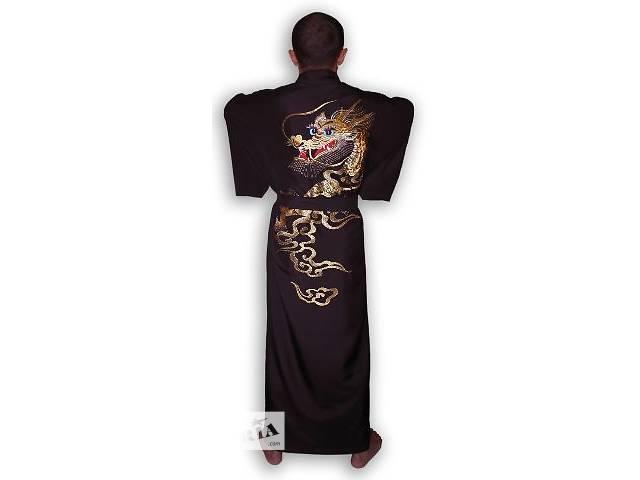 Кимоно мужское. Юкато.  Домашний японский халат.- объявление о продаже  в Киеве