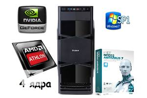 Новый компьютер 4 ядра, 2Гб видео по супер цене!!!