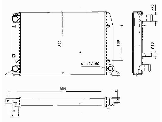 продам новый Система охлаждения Радиатор Легковой Audi 80 бу в Луцке