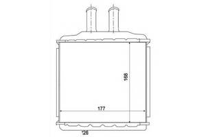 Радиатор печки GMC