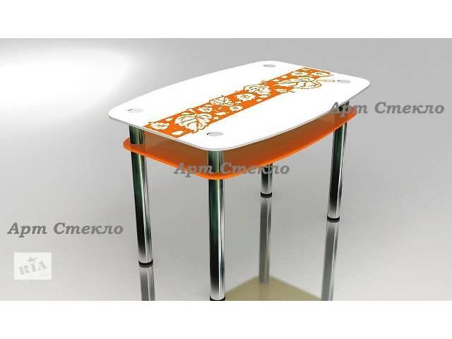 продам Обеденные стлоля из стекла с рисунком бу в Дружковке