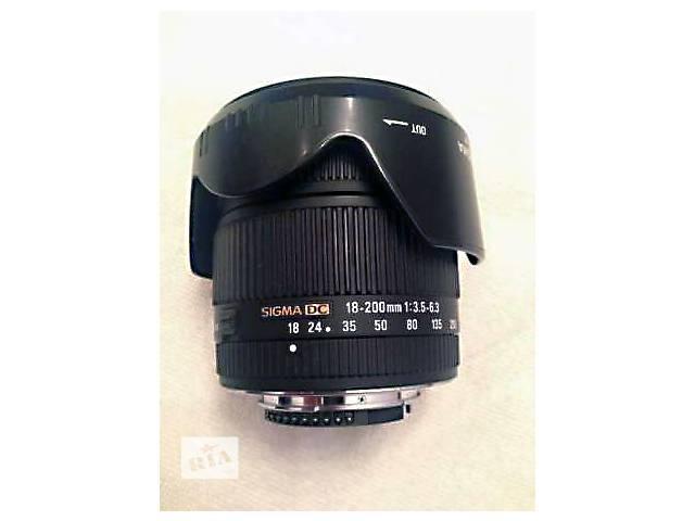 продам объектив Sigma для Nikon 18-200 mm f/3.5-6.3 бу в Киеве