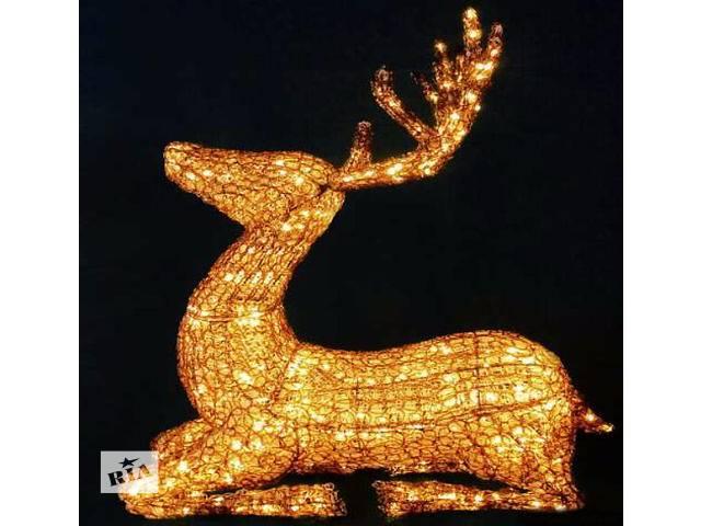 купить бу Объемная фигура,светодиодный олень,3 D фигуры новогодние в Киеве