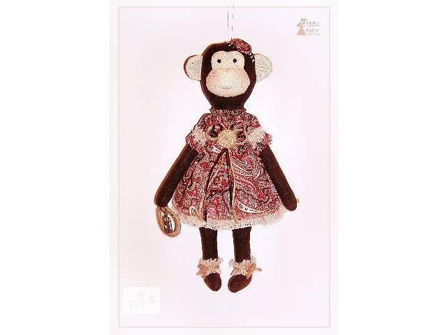 Обезьянка Люси. Текстильная игрушка Тильда. Сувенир ручной работы.- объявление о продаже  в Херсоне