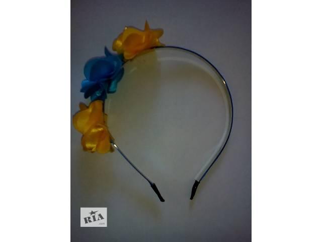купить бу РАСПРОДАЖА!!! Ободки для волос  с цветами в Бердянске