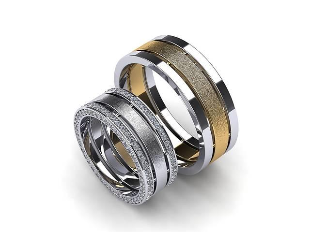 купить бу обручальные кольца из комбинированного золота в Киеве