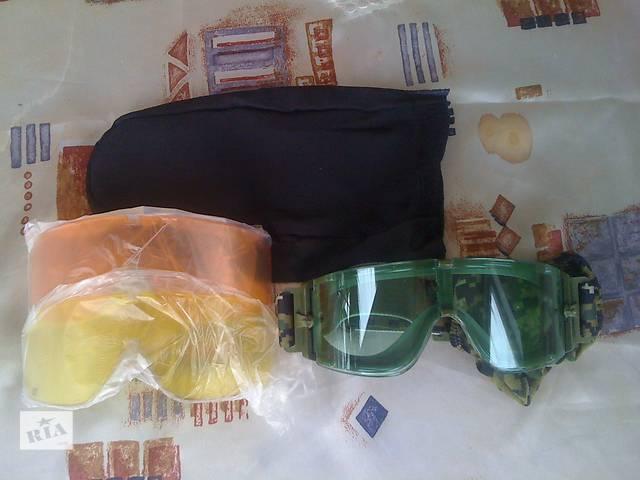 купить бу Очки тактические (очки-маска) с доп. стеклами и чехлом новые в Черноморске (Ильичевск)
