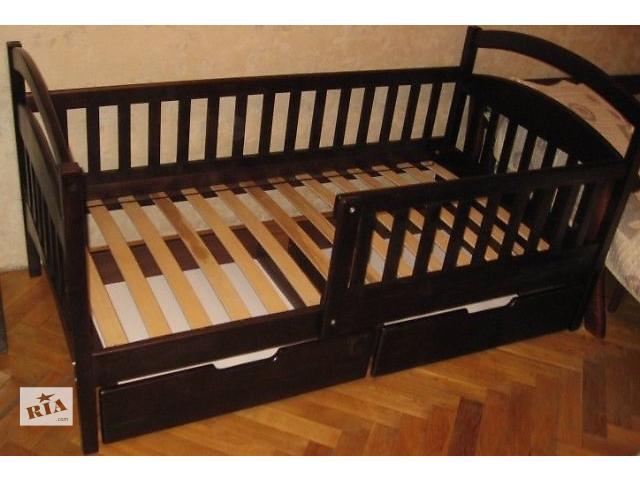 купить бу одноярусная или двухъярусная кроватка Карина Люкс из ольхи. без посредников в Одессе