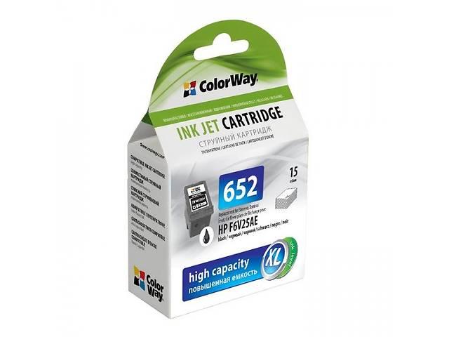 Картридж ColorWay для HP F6V25AE (No.652) bl. (ink level)