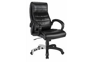 Офисная мебель Кресла для офиса Мартин экокожа черная