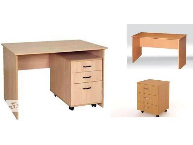 Офисная мебель стол письменный с выдвижной тумбой новый - ме.