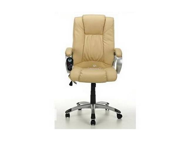 Офисное кресло массаж + подогрев Calviano Manline (беж)- объявление о продаже  в Тернополе