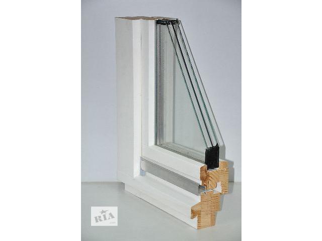 Окно и балконная дверь из дерева. Евробрус. Арка. Стеклопакет.- объявление о продаже  в Киеве