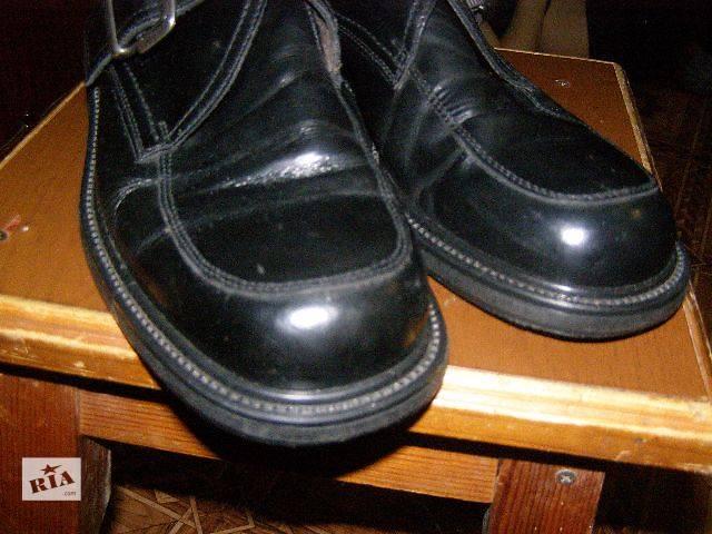 Оригинал Италия.Кожаные ботинки, мужские, добротные.- объявление о продаже  в Ромнах
