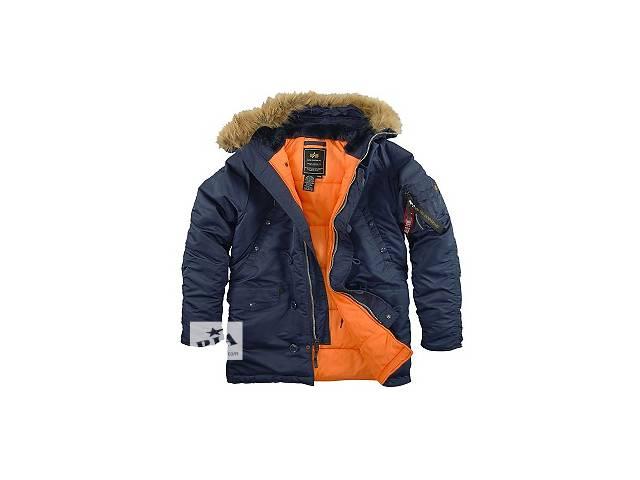купить бу Оригинальная куртка аляска Alpha Industries Slim Fit N-3B Parka (темно-синий цвет) в Киеве