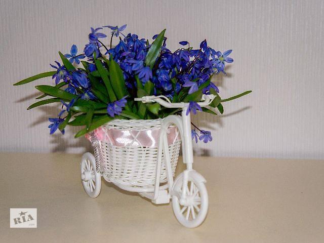Оригинальная подставка, кашпо для цветов Велосипед, подарок на 8 марта- объявление о продаже  в Харькове