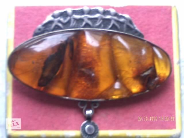 бу Оригинальная янтарная брошь с приколкой в Житомире